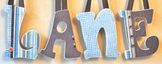 Custom Wooden Nursery Letters - Baby Boy Nursery Decor- Personalized Name- any color, theme, bedding- The Rugged Pearl