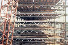 Le montage de la structure terminé. Vue côté nord.