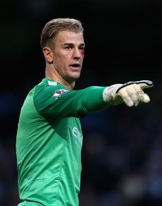 Joe Hart took a nasty hit and with an his eye half closed still makes a sick save in the 2nd half.  #ManCity #Premier League #Hart