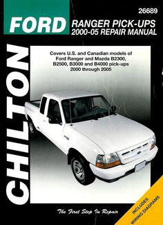 Ford Ranger Pick-Ups 2000-05 Repair Manual Book Chilton Mazda B2300 #ecrater