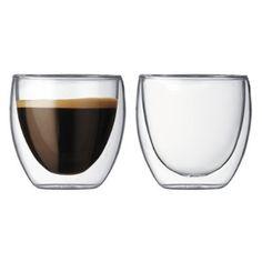 Bodum Pavina Double-Wall Thermo Tumber/DOF Glass, Set of Home & Kitchen Espresso Shot, Espresso Cups, Italian Espresso, Cappuccino Tassen, Glass Coffee Cups, Coffee Mugs, Tea Mugs, Tea Cup Set, Shot Glasses