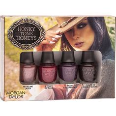 "Morgan Taylor Professional Nail Lacquer ""Mini Honky Tonk Honeys Collection"""