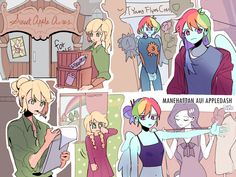 Mlp My Little Pony, My Little Pony Friendship, Disney Drawings, Cute Drawings, My Little Pony Fanfiction, Multicolored Hair, Little Poni, Pony Drawing, Lesbian Art
