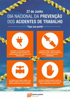 Poster for an oil & gas company's celebration of the National Day of Preventing Accidents at Work