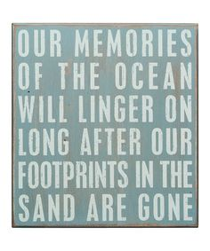 Take a look at this Primitives by Kathy 'Memories of the Ocean' Box Sign by Color Trends: Bold Blue on #zulily today!