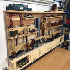 Woodworking Shop Tool Storage Ideas #woodworkingtools