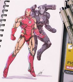 Ironman might be my favorite suit design of all of MCU sketched on paper, colored on photoshop Marvel Comics, Marvel Cartoons, Marvel Art, Marvel Heroes, Captain Marvel, Iron Man Wallpaper, Marvel Wallpaper, Iron Man Drawing, Iron Man Art
