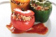 Γεμιστά παραδοσιακά με ρύζι Snack Recipes, Snacks, Group Meals, Greek Recipes, Vegetable Recipes, Bon Appetit, Cabbage, Good Food, Tasty