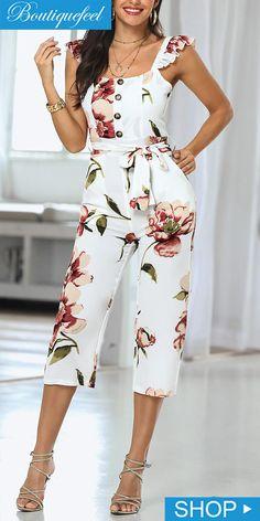 Jumpsuit Outfit, Casual Jumpsuit, Floral Jumpsuit, Modest Outfits, Skirt Outfits, Chic Outfits, Fitness Video, Joko, Lace Bodysuit