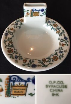 Syracuse China Match Holder made for the American Hotels Corporation. Date code (Sept Syracuse China, Dining Services, Restaurant, Hotels, Plates, American, Tableware, Licence Plates, Dishes