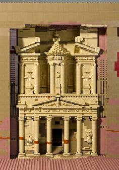 Petra   The LEGO monuments were created by Warren Elsmore and are featured in his book, Brick Wonders