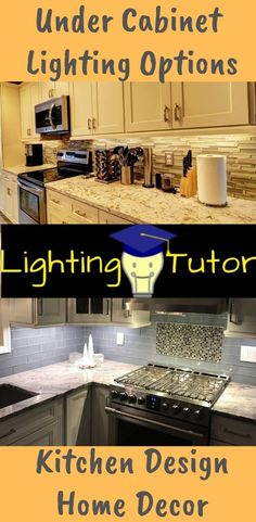 If you are considering under cabinet lighting options, then you are on your way to a significant improvement in the overall look and feel of your kitchen. Under Kitchen Recessed Lighting, Under Cabinet Lighting, Light Kitchen Cabinets, Lighting, Cool Lighting, Kitchen Lighting Design, Kitchen Lighting, Cabinet Lighting, Kitchen Remodel Design