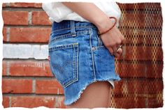 DIY denim cut- offs: make a pair of jeans you do not want anymore into a cute pair of shorts!