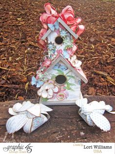 Love Birds Birdhouse with Graphic 45  - Created by Lori Williams of Pinkcloud Scrappers