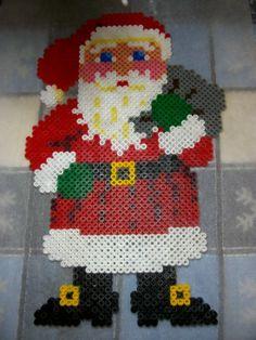 Christmas Santa Claus hama perler beads by Nath Hour