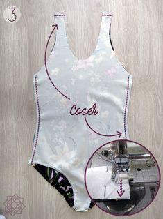 DIY Vestido de baño + molde gratis - Defective Tutorial and Ideas Sewing Clothes, Diy Clothes, Diy Vestidos, Diy Crafts For Teen Girls, Diy Fashion, Fashion Design, Design Blog, Beachwear For Women, Swimsuits