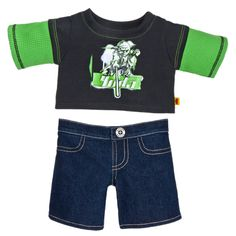 Yoda Jeans Outfit 2 pc. - Build-A-Bear Workshop US