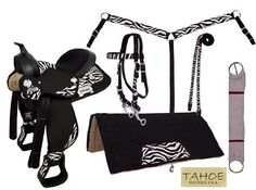 Tahoe Tack Synthetic Zebra Print Barrel Horse Saddle 5 Piece Set by Tahoe Tack, http://www.amazon.com/dp/B00FBGVUQ6/ref=cm_sw_r_pi_dp_VrTAsb0VCBVFB