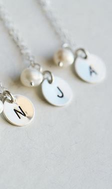 initial necklaces.