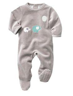 Baby Strampler mit tollem Aufdruck GRAU