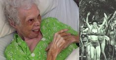 102-year-old Alice Barker watches videos of herself dancing for the first time.