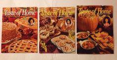 3 Taste Of Home Recipe Magazines Fall Thanksgiving Halloween October November    eBay