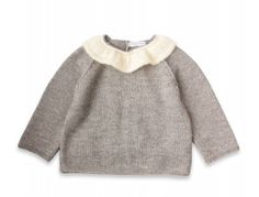 I am in love with this delicately-collared sweater!