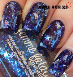 Femme Fatale Suspended Starlight over Kleancolor Neon Sapphire