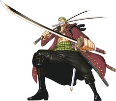 ZORO. (Why are there no katana emojis? The only have a knife, bomb and gun)
