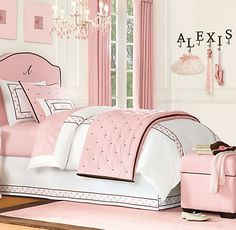 Princess Room - this would be much more practical, white walls with pink all being accents.
