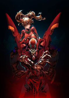 This picture brings to life all of Asuka's personality. Beautiful and gruesome. This is simply stunning.