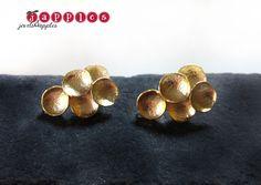 Ohrstecker - Ohrringe *Bubbles* matt vergoldet. - ein Designerstück von japples bei DaWanda