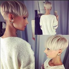 Cute, Undercut with Pixie Style - Blond Short Hairstyles for Thick Hair - Easy…