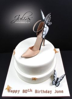 Butterfly cake and shoe - Cake by Julia bend