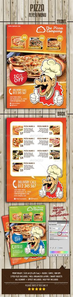 Pizza Restaurant Flyer Vol2 Pizza restaurant, Pizzas and Food - restaurant flyer