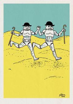 Tintin vs Star Wars : les Dupondt Stormtroopers - Dessin : Gilderic // hahahahahaha oh my word