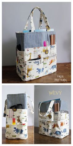 Small Sewing Projects, Sewing Projects For Beginners, Sewing Tutorials, Sewing Crafts, Bag Tutorials, Sewing Diy, Diy Bags Patterns, Sewing Patterns Free, Free Sewing