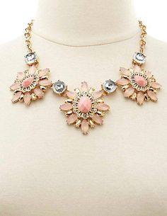 Stand out this holiday season with a statement necklace like this Faceted Stone BIB Necklace from Charlotte Russe. #womensfashion #holidays2014