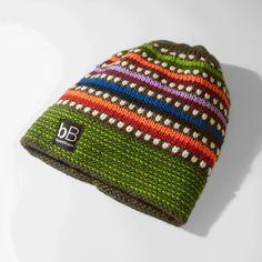 Green Rainbow Fleece-Lined Beanie