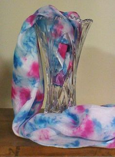 Best, original, silk scarves, silky soft, hand dyed, each stroke is strategically placed, one of a kind, original works of art, every fashionista owns one - get yours today! etsy.com/shop/SowingAcorns           $19.99