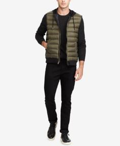 Polo Ralph Lauren Men's Big & Tall Down-Panel Double-Knit Vest $165.00 This Polo Ralph Lauren vest offers extra insulation thanks to a down-filled front panel, and its double-knit fabric makes it just as comfortable as your favorite sweatshirt.