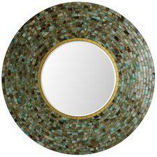 Ocean Mosaic Round Mirror
