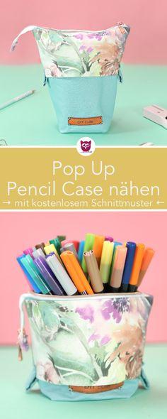 Pop Up Pencil Case nähen - DIY Eule