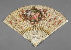 Fitzwilliam Museum Collections Explorer - Object M.8-1985 (Id:117594)Maker(s) & Production: Unknown, maker, Germany, possibly Unknown, maker, Italy, possibly Production Note(s): Three other decoupé fans of similar type are known, in the Royal Collection, Windsor, in the Bayerischen Nationalmuseum, Munich, and in the Barisch collection, Bielefeld. Some authorities have attributed this and three other decoupé fans with comparable decoration to Germany, and some, to Italy. The Cupid holding a…