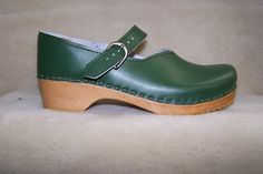 Mary Jane - Closed Back Clog - Spruce - Size 40 - Closeout