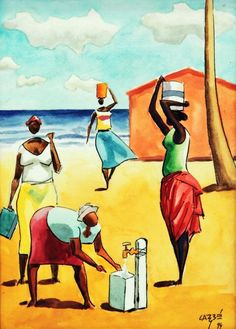 Arte Moderna Carbe from Argentina Art And Illustration, Modern Art, Contemporary Art, Caribbean Art, Classic Paintings, Arte Popular, Fine Art, African Art, Black Art
