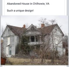 Abandoned house in Chilhowie, VA. Start with a new roof and work your way to the ground! Isn't she lovely😊 Old Abandoned Buildings, Abandoned Mansions, Abandoned Property, Old Buildings, Old Mansions, Abandoned Places, Haunted Places, Scary Places, Abandoned Castles