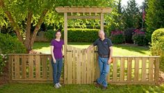 Fence idea - like the height!