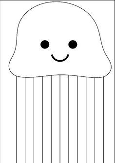 Cut straight lines - Vorschule - Crafts Home Cutting Activities, Motor Activities, Toddler Activities, Preschool Worksheets, Preschool Learning, Preschool Activities, Jellyfish Painting, Watercolor Jellyfish, Jellyfish Drawing