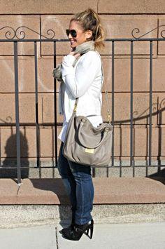 white jacket for winter on threads + mane - fashion blog #winter #winterwhites #whiteleather #fashion